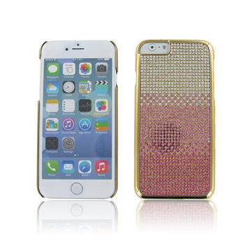 Apple iPhone 6S/ 6 4.7 Chrome Case w/ Full Diamond Cascade Pink + Rose Gold""