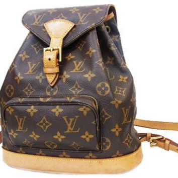 Authentic Louis Vuitton Monogram Montsouris MM Backpack LV 1113