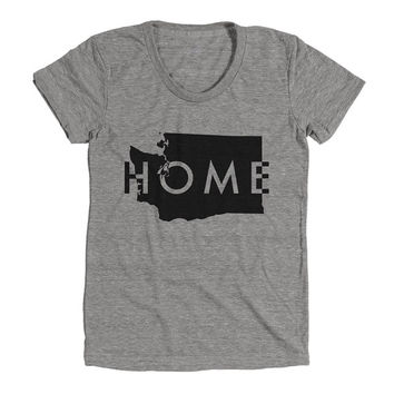 Washington Home Womens Athletic Grey T Shirt - Graphic Tee - Clothing - Gift