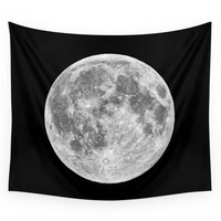 Society6 Full Moon Wall Tapestry