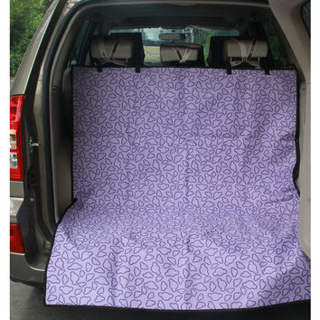 Waterproof Pet Car Seat Cover Dog Travel Mat for SUV Trunk, Purple Cloud