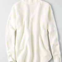 AEO Ahh-mazingly Soft Mock Neck Sweater, Cream
