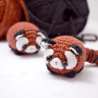 red panda amigurumi pattern - cute crochet pattern