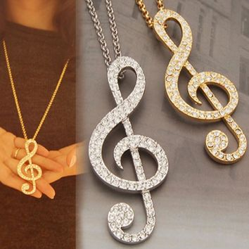 Latest 1pc  Item Special Vintage Lovely Music Note Pendant Necklace Practical Creative Hot Individual Original