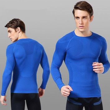 High Quality Winter Thermal Underwear Men Long Sleeves Top T-Shirt Based Compression Underwear Men Fitness clothing