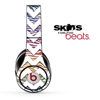 Color Zebra and White Chevron Pattern Skin for the Beats by Dre Solo, Studio, Wireless, Pro or Mixr