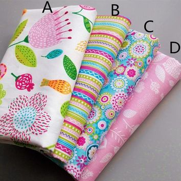 160CM*50CM chic  floral  Cotton  Fabric quilting  Baby Cloth  Kids bedding  patchwork tissue home Textile doll Sewing fabric