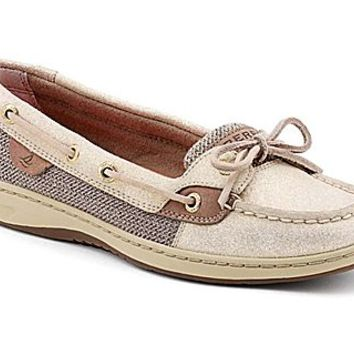 Angelfish Sparkle Suede 2-Eye Boat Shoe