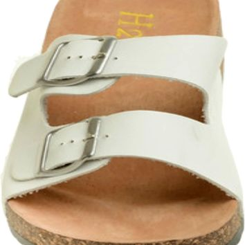 The Buckle Slip On, White