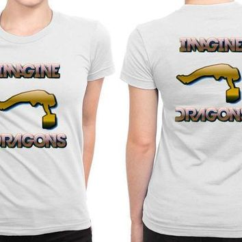 CREYH9S Imagine Dragons Fly People B 2 Sided Womens T Shirt