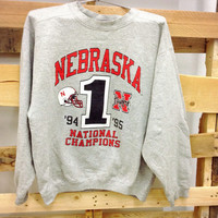 Vintage College Sweatshirt- University of Nebraska