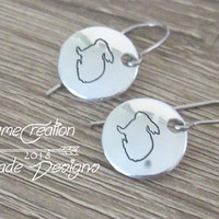 Silver Bunny Earrings, Bunny Earrings for Women, Wife Earrings Gift, Easter Gifts, Easter Earrings, Easter Earrings for Girls