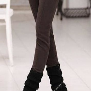 Pencil Pants Skinny Thick Velvet Warm Winter Leggings