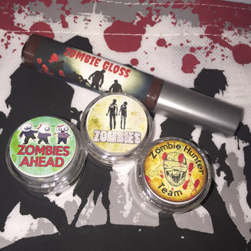 Zombie Halloween Limited Edition Makeup Set Eyeshadow Lip Gloss