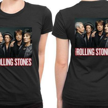 The Rolling Stones Cover Photo 2 Sided Womens T Shirt