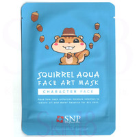 SNP Character Face Squirrel Aqua Face Art Mask