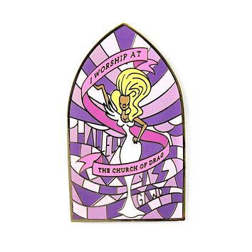 Church Of Drag Large Pin