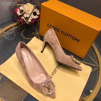 Louis Vuitton LV Women Fashion Pointed Toe High Heels Shoes 36-39