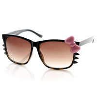 Animal Print Womens Kitty Bow and Whiskers Sunglasses