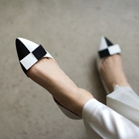 Summer Korean Leather Butterfly Pointed Toe With Heel Shoes [4920468100]