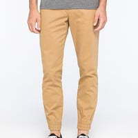Vans Excerpt Pegged Mens Chino Jogger Pants Khaki  In Sizes