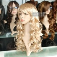 Buy Home New Lady Sexy Long Wavy Blonde Party Hair Cosplay Wigs