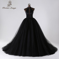 PoemsSongs2017New style custom made Very sexy backless wedding dress white black red vestido de noiva brides dress ball gown