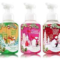 Bath & Body Works Christmas Foaming Soap Trio - Vanilla Bean Noel + Winter Candy Apple + Twisted Peppermint
