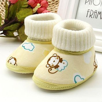 Winter Boots Baby Ankle Snow Boots Fleece Shoes Winter Baby Shoes Boots Infants Warm Fur Wool Booties