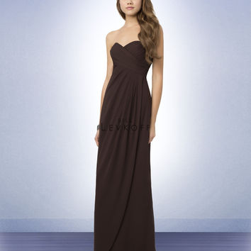 Bill Levkoff 772 Chiffon Strapless Sweetheart Floor Length Bridesmaid Dress