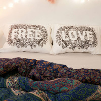 Plum & Bow Free Love Pillowcase Set - Urban Outfitters