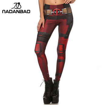 New Arrival Super HERO Women Leggings Fitness Deadpool Leggins Printed Fashion Legins  woman legging  KDK1577