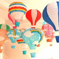 "12''30cm/16""40cm Rainbow Air Balloon Paper Lantern Kids Birthday Party Wedding Decoration 22 Colours for choose 1pc"