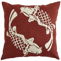 Embroidered Koi Fish Pillow