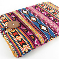 iPad Mini Case, iPad Mini Sleeve, iPad Mini Cover, Mini iPad Case, Padded, Pocket - Colorful Tribal, Aztec, Navajo, Southwest