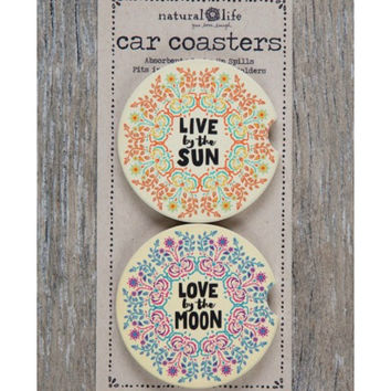 Natural Life Car Coaster Sun/Moon