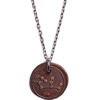 Wax Seal Virgo Constellation Necklace