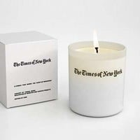Newspaper-Scented Candles : The Times of New York