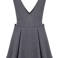 Double-V Suspender Dress - OASAP.com