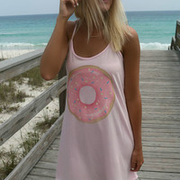 Tasty Treats Pink Donut Tank Dress