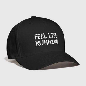 Sports Hat Cap trendy  feel like running Embroidered Customized athletics exercise jogger jogging sports training workout Outdoors Cool Curved Dad hat KO_16_1