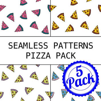 Seamless Patterns JPG Files - Pizza Pack - Digital Scrapbook Paper Pack