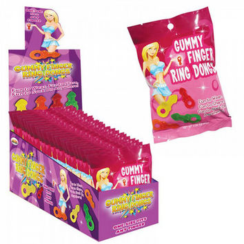 Hott Products Gummy Finger Ring Dongs  12 Count Display