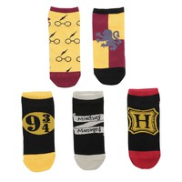 Harry Potter Gryffindor No-Show Socks 5 Pair