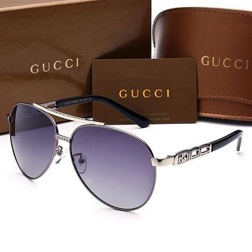 Gucci Fashion Sunglasses Vintage Fashion Metal Frame Mirror Sun Glasses Unique Flat Sunglasses B-A50-AJYJGYS