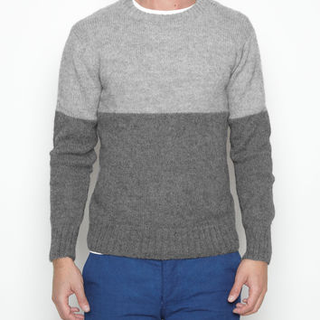 Alpaca Block Sweater at INDUSTRY OF ALL NATIONS™ in GREY/CHARCOAL in XS, S, M, L, XL