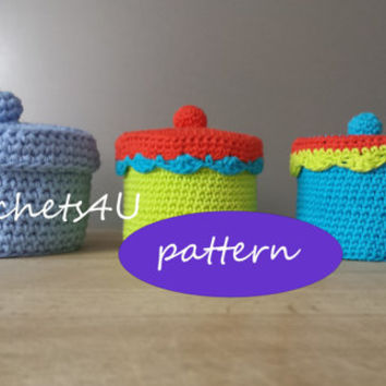 pattern crocheted box with lid / Englis pattern