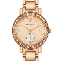 Women's kate spade new york 'gramercy mini' crystal bezel bracelet watch, 27mm - Rose Gold