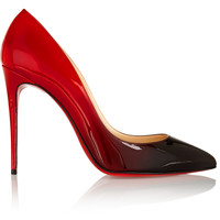 Christian Louboutin - Pigalle 100 dégradé patent-leather pumps