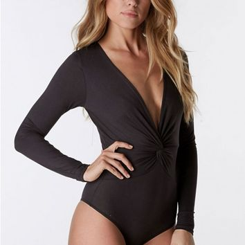 Twisted Fate Long Sleeve Bodysuit